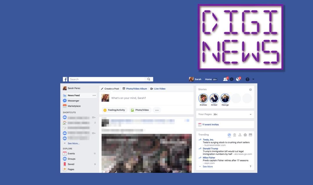 Facebook stories na veľkej obrazovke!