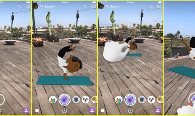 Snapchat premiérovo prináša bitmojis v 3D