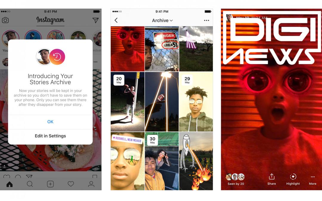 Instagram minulý týždeň predstavil Stories Highlights a Stories archive