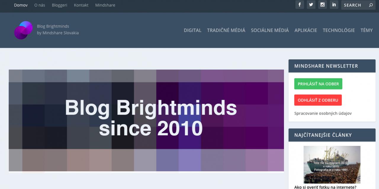 To najúspešnejšie z nášho Blogu Brightminds